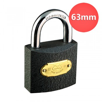63mm Lemen Iron Padlock Brass Cylinder