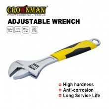 "Crownman 12"" Adjustable Wrench with Double Color Handle"