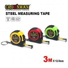 Crownman 3mx12.5mm Double Color ABS Case Steel Measuring Tape