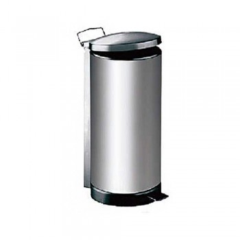 Stainless Steel Dustbin - Round Pedal Litter Bin - RPD-045SS (Item No: G01-14)