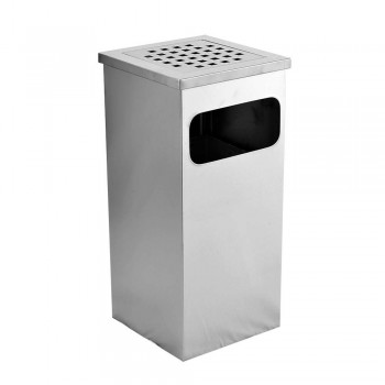 S.Steel Square Ashtray Bin SQB-004/SS (Item No: G01-120)