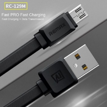 Remax RC-129M Strong Fexible Fast Safe Data Cable 2.4A-Mirco