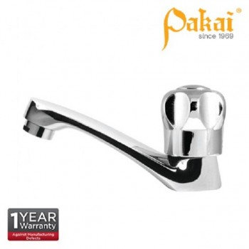 Pakai CROWN Knob Handle - Long Spout Basin Pillar Tap PK-CRW-PT-LS