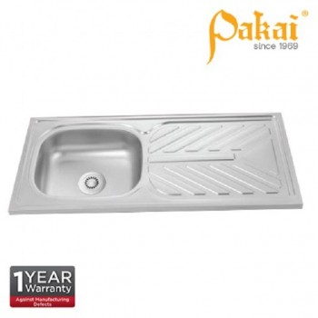 Pakai SUS201 Single Bowl Single Drainer(SBSD) Kitchen Sink PK-DT1060C