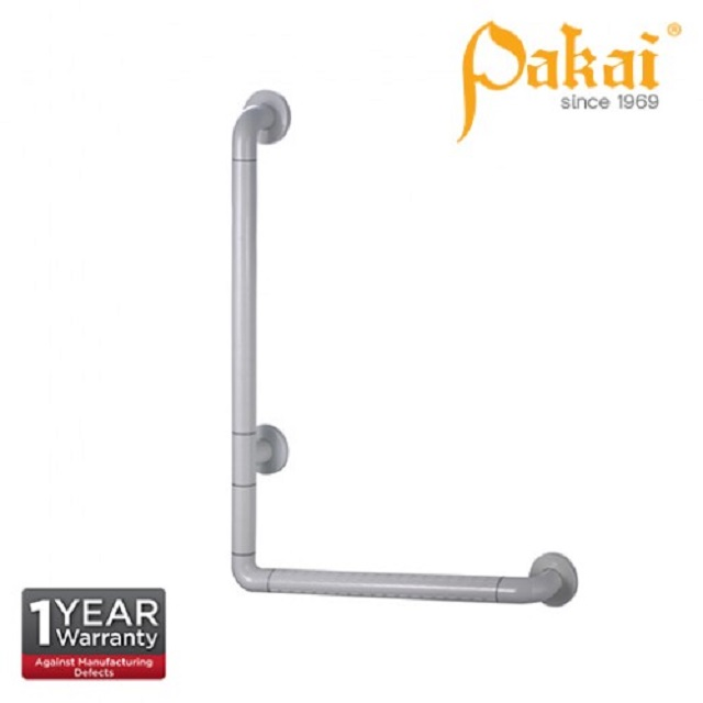 Pakai Wall Mount Nylon Covered Angled Grab Bar 700mm PK-BF-88083-700