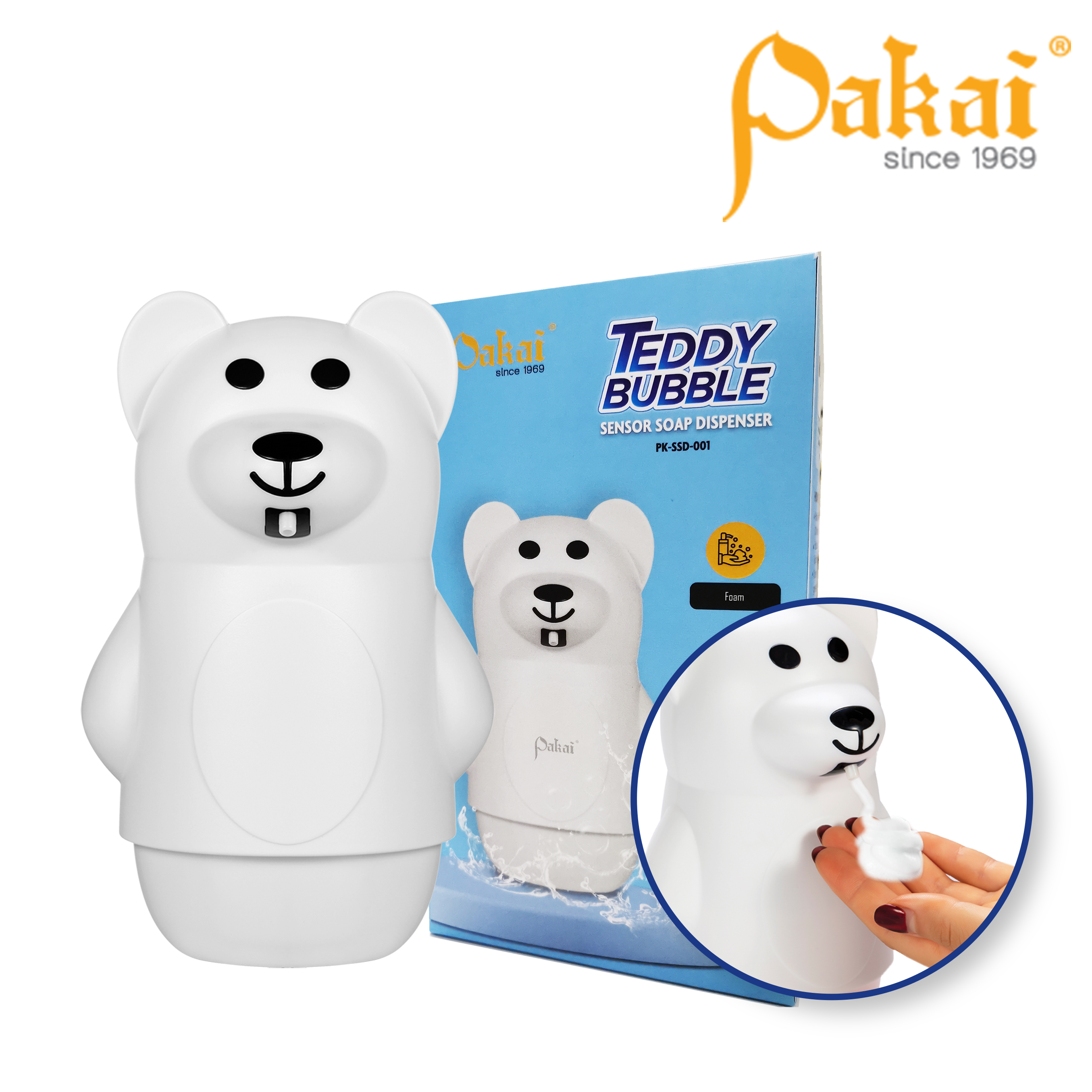Pakai Teddy Bubble Soap Dispenser PK-SSD-001